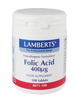Folic Acid 400ug by Lamberts
