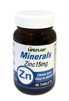 Lifeplan Zinc Citrate 15mg
