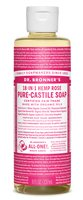 Rose Castile Liquid Soap by Dr Bronner's