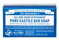 Dr Bronner's Peppermint Pure Castile Soap Bar