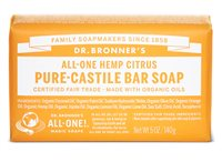 Dr Bronner's Citrus Orange Pure Castile Soap Bar