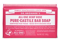 Dr Bronner's Rose Pure Castile Soap Bar