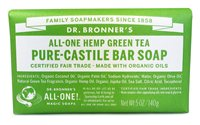 Dr Bronner's Green Tea Castile Soap Bar