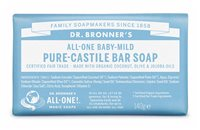 Dr Bronner's Baby Unscented Pure Castile Soap Bar