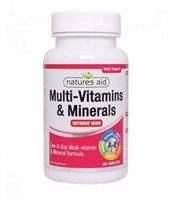 Natures Aid Multi Vitamins & Minerals Without Iron