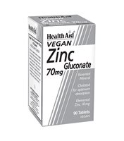 Health Aid Zinc Gluconate 70mg