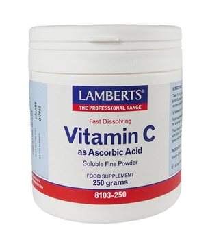 Lamberts Vitamin C as Ascorbic Acid  250g  - Click to view a larger image