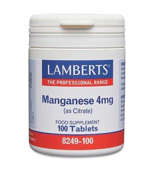 Lamberts Manganese 4mg  - Click to view a larger image