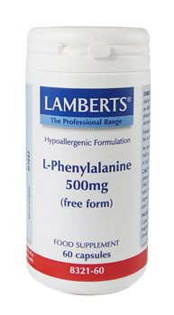 Lamberts L Phenylalanine 500mg  - Click to view a larger image