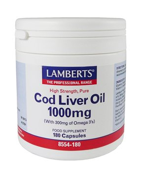 Lamberts Cod Liver Oil 1000mg  - Click to view a larger image