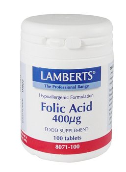 Lamberts Folic Acid 400ug  - Click to view a larger image