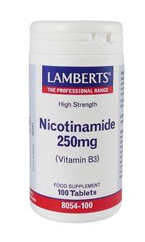Lamberts Nicotinamide 250mg  - Click to view a larger image