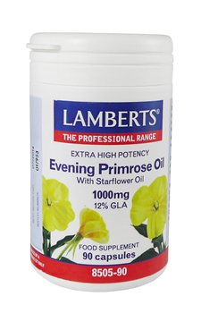 Lamberts Evening Primrose Oil with Starflower Oil 1000mg  - Click to view a larger image