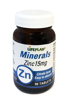 Lifeplan Zinc Citrate 15mg  - Click to view a larger image