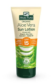 Aloe Pura Aloe Vera Sun Lotion SPF 15  - Click to view a larger image