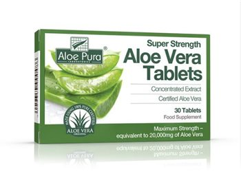 Aloe Pura Super Strength Aloe Vera Tablets  - Click to view a larger image