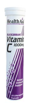 Health Aid Vitamin C 1000mg Effervescent Blackcurrant  - Click to view a larger image