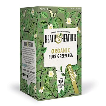 Heath & Heather Organic Pure Green Tea  - Click to view a larger image