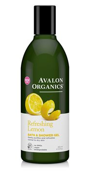 Avalon Organics Lemon Bath and Shower Gel  - Click to view a larger image
