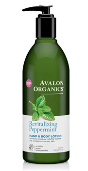 Avalon Organics Peppermint Hand and Body Lotion  - Click to view a larger image