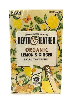 Heath & Heather Organic Lemon & Ginger Tea  - Click to view a larger image