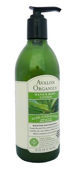 Avalon Aloe Unscented Hand and Body Lotion  - Click to view a larger image