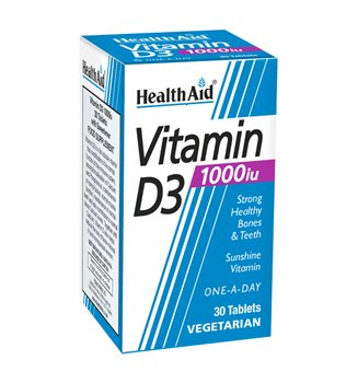 Health Aid Vitamin D3 1000iu  - Click to view a larger image