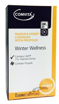 Comvita Manuka Honey Lozenges with Propolis Aniseed  - Click to view a larger image