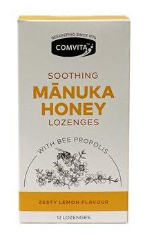 Comvita Manuka Honey Lozenges Lemon and Honey  - Click to view a larger image