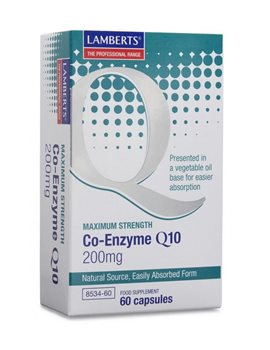 Lamberts Co Enzyme Q10 200mg  - Click to view a larger image