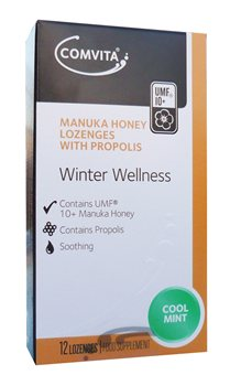 Comvita Manuka Honey Lozengers Cool Mint  - Click to view a larger image
