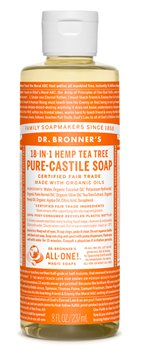 Dr Bronner's Tea Tree Castile Liquid Soap  - Click to view a larger image