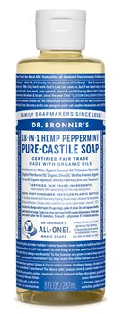 Dr Bronner's Peppermint Castile Liquid Soap  - Click to view a larger image