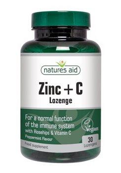 Natures Aid Zinc Lozenges  - Click to view a larger image