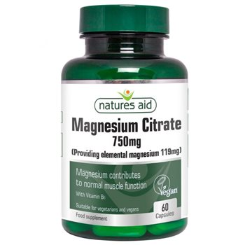 Natures Aid Magnesium Citrate 750mg  - Click to view a larger image