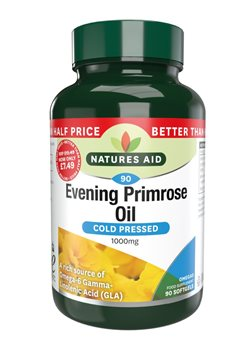Natures Aid Evening Primrose Oil 1000mg  - Click to view a larger image