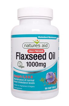 Natures Aid Flaxseed Oil 1000mg  - Click to view a larger image
