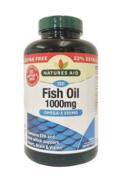 Natures Aid Omega 3 Fish Oil 1000mg   - Click to view a larger image