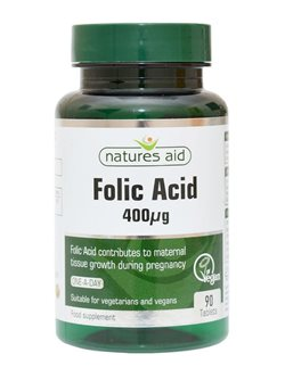 Natures Aid Folic Acid 400ug  - Click to view a larger image