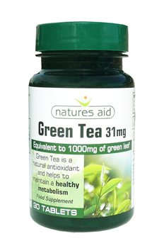 Natures Aid Green Tea 31mg  - Click to view a larger image