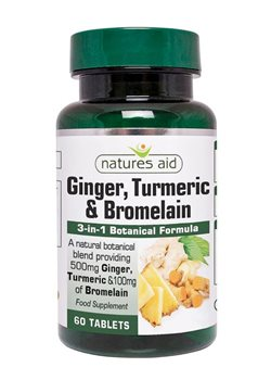 Natures Aid Ginger Turmeric and Bromelain  - Click to view a larger image