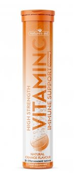 Natures Aid Vitamin C 1000mg Effervescent Orange Flavour  - Click to view a larger image