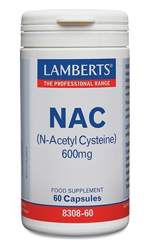 Lamberts NAC N Acetyl Cysteine 600mg  - Click to view a larger image