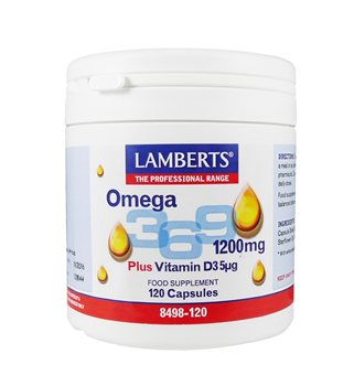 Lamberts Omega 3 6 9 1200mg  - Click to view a larger image