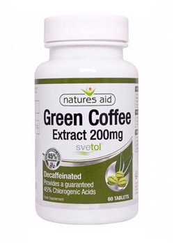 Natures Aid Green Coffee Extract 200mg  - Click to view a larger image