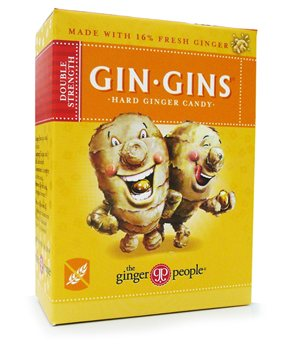 The ginger people Gin Gins Double Strength Hard Ginger Candy  - Click to view a larger image
