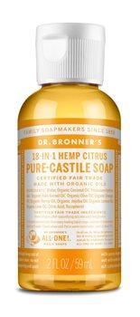 Dr Bronner's Citrus Orange Castile Liquid Soap  - Click to view a larger image