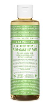 Dr Bronner's Green Tea Castile Liquid Soap  - Click to view a larger image