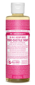 Dr Bronner's Rose Castile Liquid Soap  - Click to view a larger image