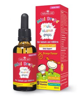 Natures Aid Multi Vitamin Mini Drops  - Click to view a larger image
